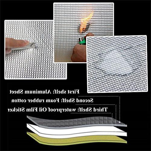 shinehome Heat Shield Deadener Deadening Mat Insulation Dampening Mat Heat Proof Mat 6mm/236mil