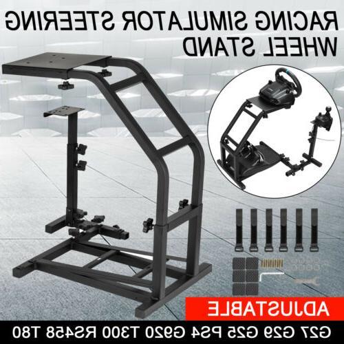 steel racing simulator steering wheel stand
