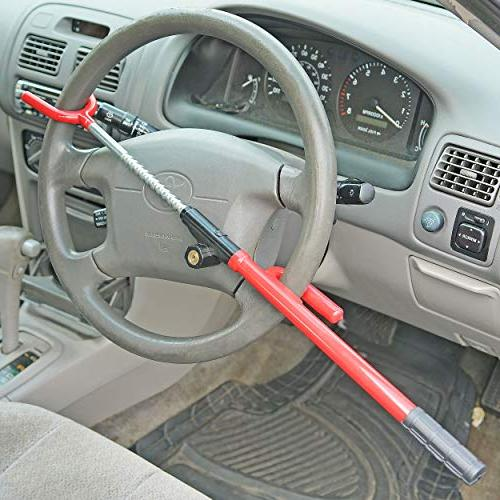 Steering Wheel Bar Adjustable Anti Security Truck Van