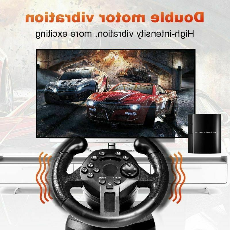 Steering Wheel Pedals Racing Controller PC/PS3 Simulator