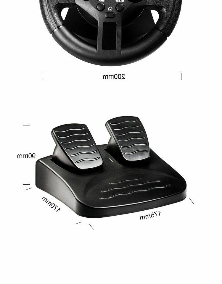 Steering Wheel Pedals Gaming Controller PC/PS3 Simulator