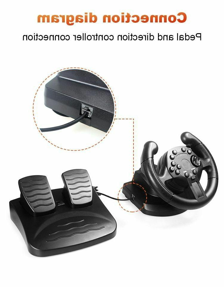 Steering Joystick w/ Pedals Gaming Controller