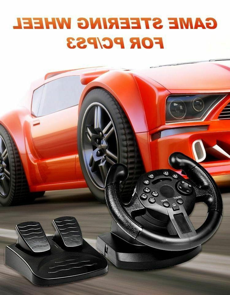 steering wheel joystick w pedals racing gaming