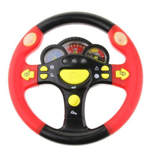 Kids Interactive Sound & Light Steering Wheel Toy Little Dri