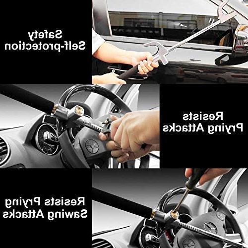 Steering Wheel Lock Universal Duty Safety Adjustable 3