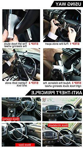 Steering Wheel Universal Adjustable with 3