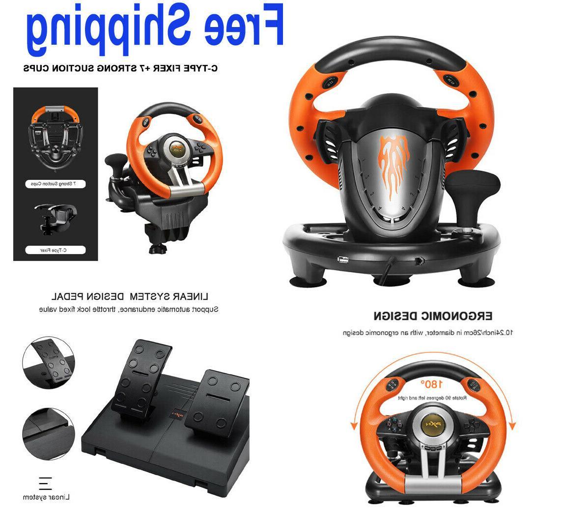 steering wheel pedal set racing gaming simulator