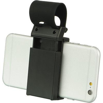 Universal Gray CAR HOLSTER On Steering Wheel Phone Holder