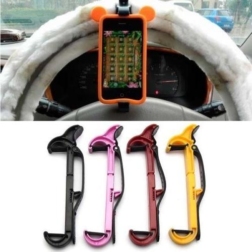 Universal Car Steering Wheel Phone Mount Holder GPS Bike Cli
