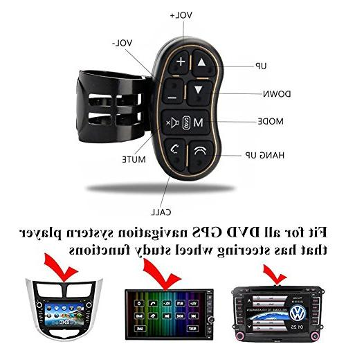Steering Control, Universal Car Player GPS Navigation Steering wheel control Key with Switch