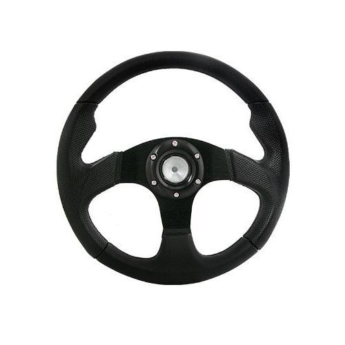 universal jet style 320mm black steering wheel