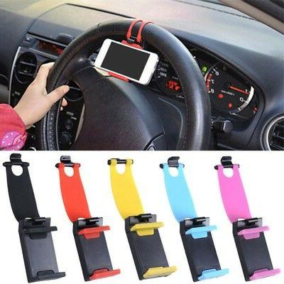 Car Steering Wheel Holder Clip Stand Mount Holder for Mobile