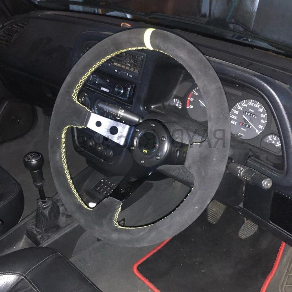 Universal OMP inch 350mm Racing <font><b>Steering</b></font> <font><b>wheels</b></font> Deep Drifting Sport <font><b>Steering</b></font>