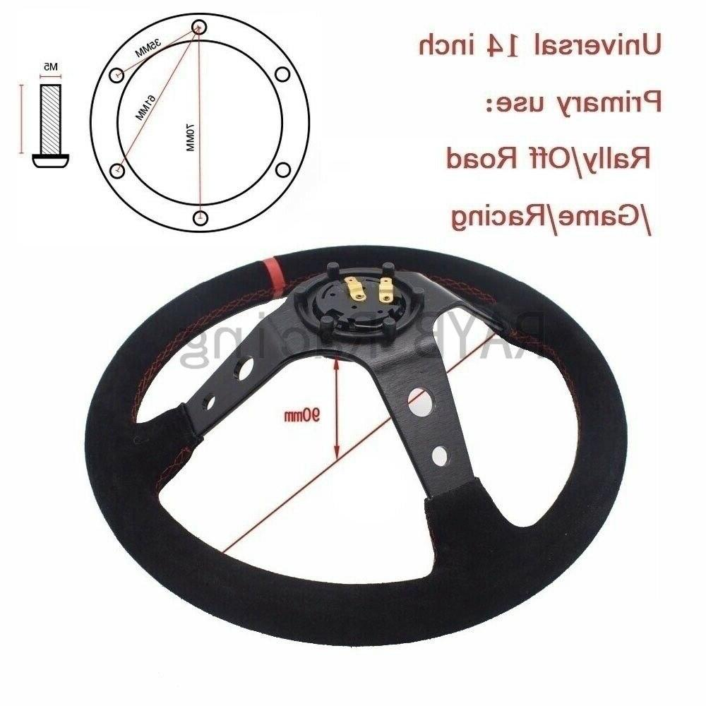 Universal 14 350mm Auto <font><b>Steering</b></font> <font><b>wheels</b></font> Deep Corn Drifting Sport With Logo