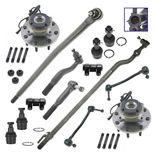 Wheel Bearing Tie Rod Drag Link Ball Joint Steering Suspension Kit Set 14pc