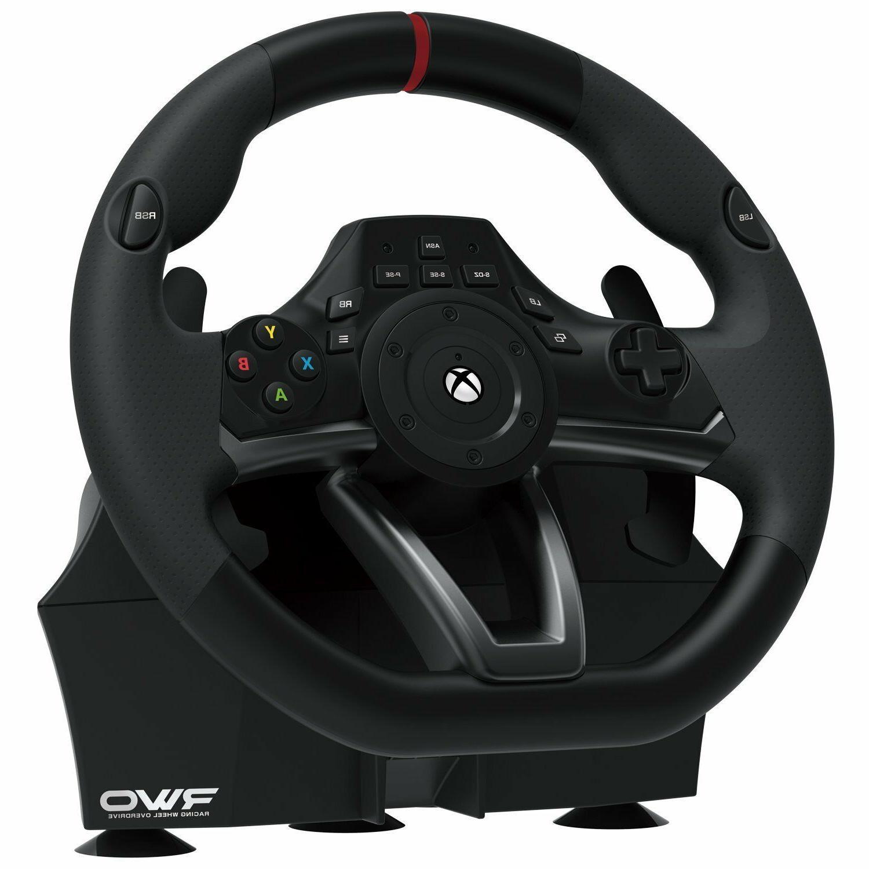 Xbox Steering Wheel Pedal Set Hori Racing Gaming Driving