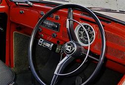 LAMINATED 35x24 Poster: Steering Wheel Interior Auto Dashboa