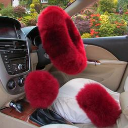 Long Plush Warm <font><b>Steering</b></font> <font><b>Wheel<
