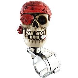 Lensuntom LUNSOM Cool Power Handle Spinner Skull Steering Wh