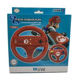 Mario Kart 8 Wii U Red Hori Racing Wheel U.S. Seller GENUINE