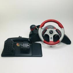 Mad Catz MC2 Universal Steering Wheel Pedals XBOX GAMECUBE