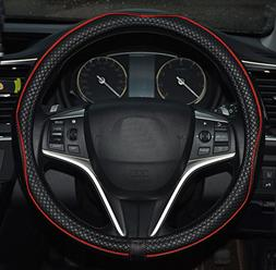 Rueesh Microfiber Leather Car Steering Wheel Cover, Soft Pad