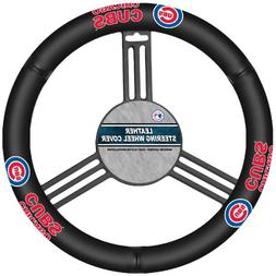 Fremont Die MLB Chicago Cubs Leather Steering Wheel Cover