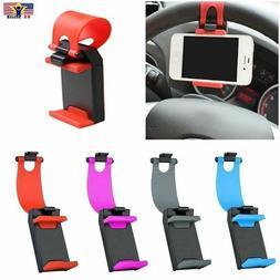 Mobile Phone Holder Car Steering Wheel GPS Cellphone Mount B