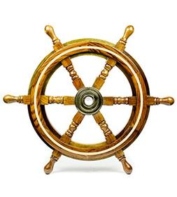 "Nagina International 12"" Nautical Wood Crafted Premium Pirat"