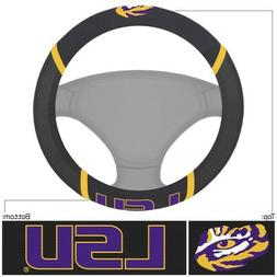 Fanmats NCAA LSU Tigers Embroidered Steering Wheel Cover Del