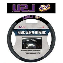NCAA LSU Tigers Poly-Suede Steering Wheel Cover, Team Color