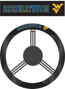 NCAA West Virginia Mountaineers Poly-Suede Steering Wheel Co