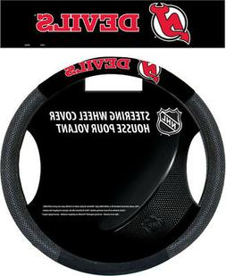 New Jersey Devils Poly-Suede Steering Wheel Cover - NHL Lice