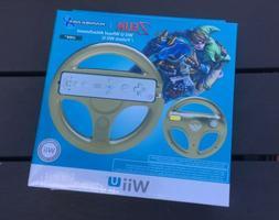 NEW Nintendo Wii U Zelda Link Mario Kart 8 Gold Steering Whe