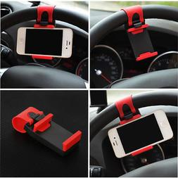 New Universal Car Steering Wheel Clip Mount Holder for iPhon
