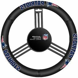 Fremont Die NFL New England Patriots Leather Steering Wheel