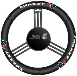 Fremont Die NFL Houston Texans Leather Steering Wheel Cover