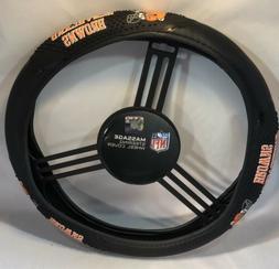 Fremont Die NFL Massage Grip Steering Wheel Cover Cleveland