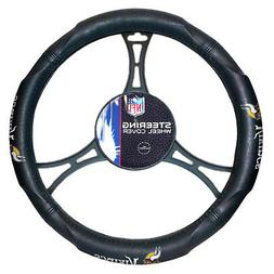 NFL Minnesota Vikings Synthetic Leather Premium Steering Whe