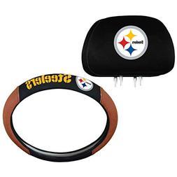 Team ProMark NFL Pittsburgh Steelers Steering Wheel and Head