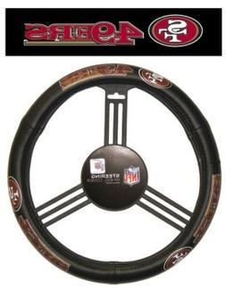 Fremont Die NFL San Francisco 49ers Leather Steering Wheel C
