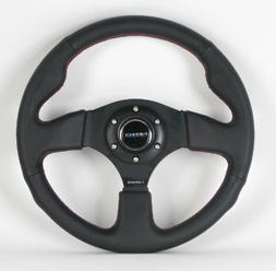 NRG Steering Wheel - 12  - 320mm  - Black Leather/Black Spok