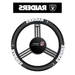 Oakland Raiders Black Vinyl Massage Grip Steering Wheel Cove