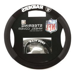 Las Vegas Raiders Steering Wheel Cover Poly Mesh Suede  USA