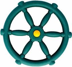 Jungle Gym Kingdom Pirate Ships Wheel Green Swings Slides Gy