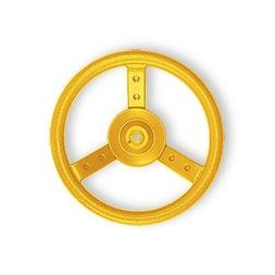 Plastic Steering Wheel Yellow Swing Set Accessory for Backya