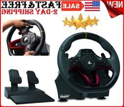 PlayStation 4 PC Wireless APEX Steering Wheel Pedal Set Raci