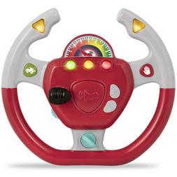 Portable Pretend Play Toy Steering Wheel Interactive Driving