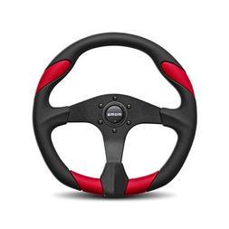 MOMO QRK35BK0R Quark Red 350 mm Urethane Steering Wheel
