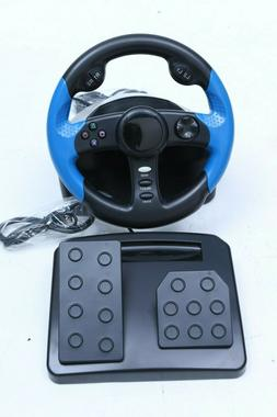 RACING GAME STEERING WHEEL PS2 AND PSX